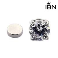 1 Pasang Anting Magnet Dengan 4 Cakar Bahan Berlian Imitasi Untuk