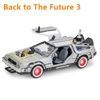 Welly 1:24 DMC -12 delorean Back to The Future III Diecast Model Car