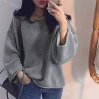 SZ974 Baju Atasan Sweater Lengan Panjang Rajut Oversize Jumbo Knit Pol