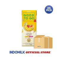 Susu UHT INDOMILK Good To Go Banana Berry 250 ml X 24 Pcs