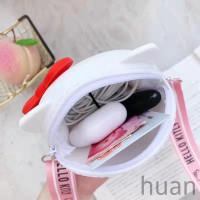 Tas Handbag/bahu/selempang Bahan Silikon Desain Hello Kitty Tali