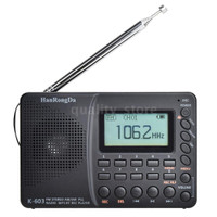 HRD-603 Portable Radio AM/FM/SW/BT/TF Pocket Radio USB MP3 Digital
