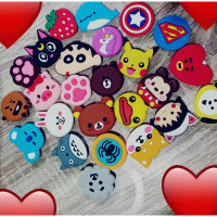 LL885 Pop Socket Aneka Karakter Anime Sinchan Totoro Superhero BT21 Bi