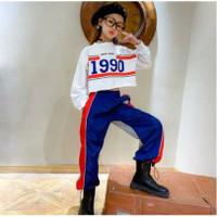 Baju Anak TERKEREN Setelan anak cewek BLACK OR NAVY NEW YORK 1990 CROP