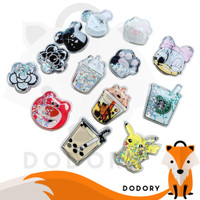 HD919 DODORY - Popsocket Glitter Karakter Bubble Tea Pop Socket Quicks