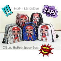 Baju Anak Tas/Ransel anak kekinian LOL HIPHOP SEQUIN import bagus