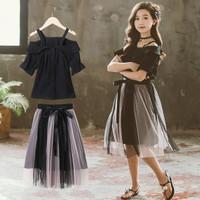 Baju Anak Setelan anak cewek remaja BLACK TUTU SABRI SET import keren