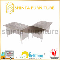 Sambungan Meja Kantor/ Meja Bundar/ Joint Table Orbitrend OSJ - 70 x 70