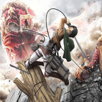 Cabeza Mainan Action Figure Model Anime Attack On Titan Levi