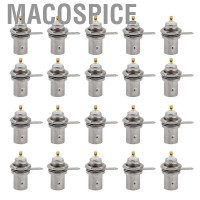 Macospice 20x BNC Female Connector Adapter for CCTV Camera Video Monit