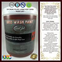 Cat Primer Wash Paint Motif Semen, Medium Grey, Kemasan 5 Kg