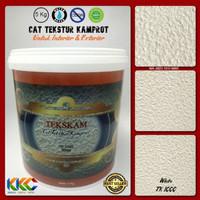 Cat Tekstur Pasir Kamprot Warna Putih, Kemasan 5 Kg