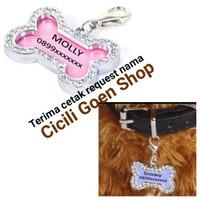 import liontin nama cantik untuk bandul kalung anjing kucing kelinci m