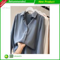 New S1002 Shirt chiffon white shirt women kemeja blouse berkerah wanit