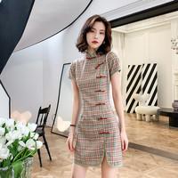 SHANGPIN Baju Cheongsam klasik wanita Cina untuk imlek