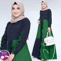 Baju gamis wanita muslimah syari dewasa Dress Mufida