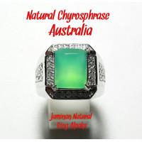 PROMO CINCIN NATURAL CHRYSOPRASE AUSTRALIA HQ. DISEBUT JUGA NEFRIT