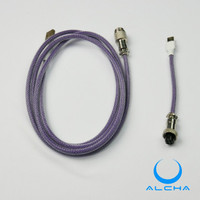 ALCHA CABLE USB TYPE C PURPLE AVIATOR JOINT MECHANICAL KEYBOARD KABEL