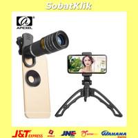 APEXEL Lensa Tele Smartphone Lens Kit 20x + SwitchPod Tripod T20XJJ04