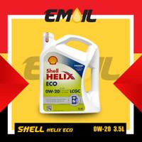 TB908 Oli Shell Helix Eco 0w - 20 LCGC API SN GF-5 galon 3 5 liter