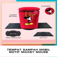 JB225 Tempat Sampah Mobil Motif Mickey Mouse Aksesoris Mickey Mouse