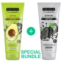 Bundle-Freeman Avocado Oatmeal Clay&Freeman Detoxifying Charcoal Mask