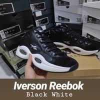 Unik sepatu basket Iverson Reebok Black White Limited