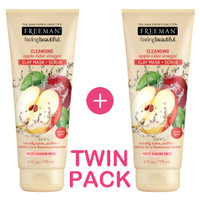 Twin Pack-Freeman Cleansing Apple Cider Vinegar Clay Mask 2Pcs