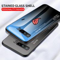 Case Tempered Glass Bahan Silikon Warna Gradasi Untuk Asus Rog 3 5g Ro