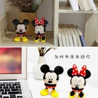 Mainan Kepala Mickey Minnie Mouse untuk Aksesoris Mobil AU