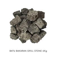 Marumura Batu Barbeque Batu Pemanggang Pengganti Arang Grill Stone