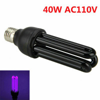 40W E27 Light UV Ultraviolet Lamp AC220V Black UV Lamp Bulb