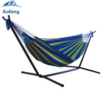 Portable Outdoor Canvas Hammock Stand Camping Sleeping Swing Hanging