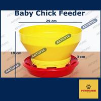 DISKON Baby Chick Feeder BCF Tempat Makan Ayam Putih Pedaging Kecil