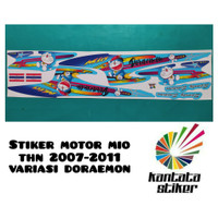 stiker striping motor mio sporty doraemon biru ready