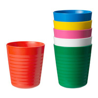 GELAS WARNA WARNI ISI 6 tempat minum anak