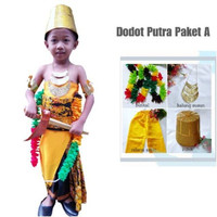 (Paket A Putra) Baju Dodotan dodot adat jawa Anak PUTRA (Paket A)