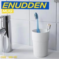 MUG GOSOK GIGI warna putih gelas kamar mandi