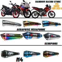 knalpot racing cs1 sonic cbr 250 r mono akrapovic m4 scorpion
