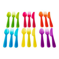 SENDOK GARFU PISAU warna warni peralatan makan anak