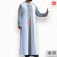 Jubah Gamis Pria Muslim Katun Premium Abu Waizhin Versado JB-35 - XXS