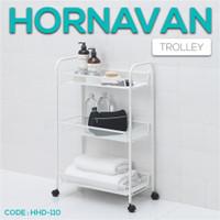 Rak Troli Dengan Roda 26x48x77 cm Trolley Barang Makanan