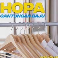 GANTUNGAN HOPA CLOTHES HANGER ISI 5 PCS GANTUNGAN BAJU KAYU