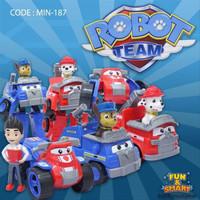 Set Robot Team Patrol Mainan anak robot robotan