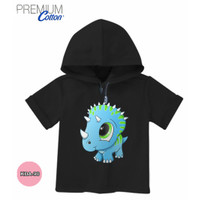 Baju dinosaurus Cute Baju Hoodie Anak Katun Premium #KDA-90