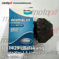 Bendix Kampas Rem Belakang Toyota Vios Limo Altis 2004 - 2007 DB1429