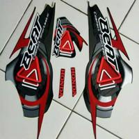 aksesoris motor Striping sticker list body Honda beat karbu 2010
