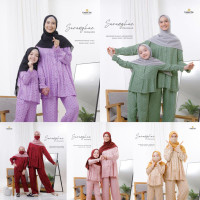 Saranghae Pajamas Original by Cotton Chic Piyama Ibu Anak Couple Busui