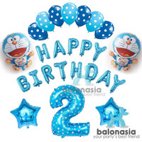 Balonasia Paket Dekorasi Ulang Tahun Tema Doraemon CT0825