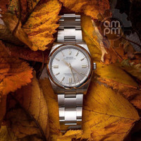 JAM TANGAN ROLEX OYSTER PERPETUAL 41 AUTOMATIC SILVER GREY DIAL